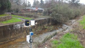 Rain Gauge at Rae's Creek
